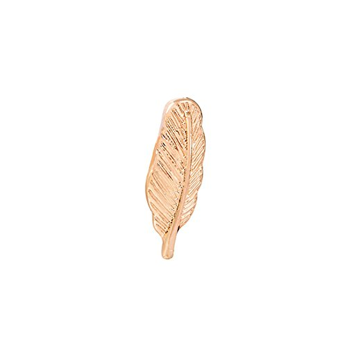 Adisaer Damen Anzug Zubehör Brosche Emaille Feder Broschen Rose Gold 2 Mädchen 1 Stück Trauung