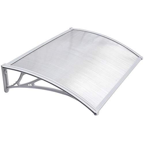 Nobljx copertura tettoie, alta qualità pc resistenza scheda esterna porta finestra baldacchino con telaio in lega di alluminio per giardino patio portico riparo tenda / 120 x 80 cm