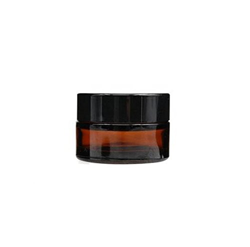 4Pcs 5 ml/10 ml leer nachfüllbar dunkelbraun Glas Make-up Kosmetik Face Cream Jar Pot Flasche Behälter mit Liners Und Schraube Deckel (5ml/ 0.17oz)