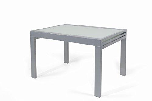 Trendyitalia 10290 tavolo allungabile, metallo, bianco, 90x120x76 cm
