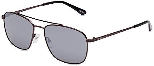 GANT Herren GA7072 Sonnenbrille, Blau (Matte Gunmetal/Blu Mirror), 59.0
