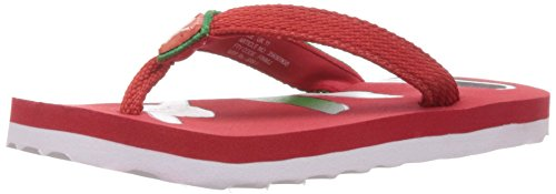 Puma Boy's Cool Cat Jr Ind. Black-Highriskred-Fern Green Mesh Flip Flops and House Slippers - 4C UK  available at amazon for Rs.340