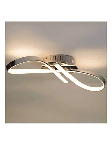 Lustre Plafonnier LED design ruban infini chrome - Acht KOSILUM - IP20 - Classe énergétique : A - 220/230V 50/60Hz - - 1200 lm - Argenté / Chromé - Descriptif technique du luminaire :Culot de l'ampoule :LED intégrée   Nombre d'ampoules : LED intégrée   Indice de protection : IP20   Puissance :   Tension : 220/230V 50/60Hz   Poids du luminaire : 0,75 kg   Poids du colis : 1,37 kg - KOSILUM