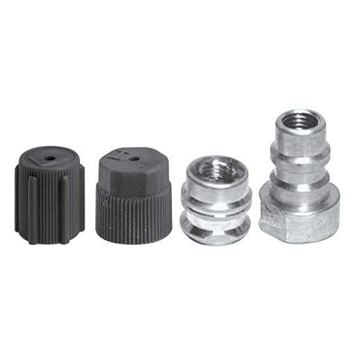 Lidahaotin 4pcs / Set de Haute qualité en Plastique Métal R-12 à R-134a Adaptateur de Conversion Kit raccords