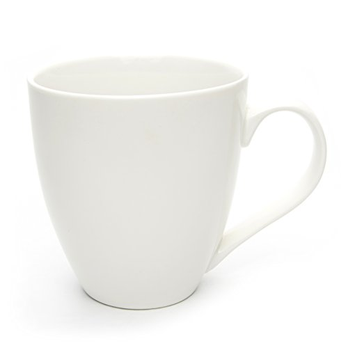 Hausmann & Söhne XXL Tasse weiß groß aus Porzellan | Jumbotasse 500 ml (550 ml randvoll) | Kaffeetasse/Teetasse groß | Kaffeebecher | weiße Tasse 500 ml | Geschenkidee (Große Tassen)