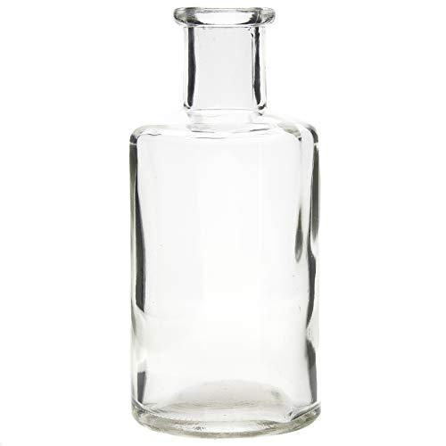12 x Vasen aus Glas Vintage H 13 cm - Glasvasen für die Tischdeko - Blumenvasen - Kleine Dekoflaschen - Deko-Flaschen Vintage Farbe ohne Musterung
