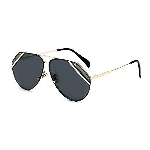 Ppy778 Sonnenbrille Zwei-Ton Reflektierende Linse Vintage Retro Style Classic Frame Unisex UV400 Schutz (Color : Blue)