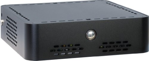 Inter-Tech ITX Q-6 mini-ITX Gehäuse inkl. 60 Watt Netzteil (2x 2,5 interne) schwarz