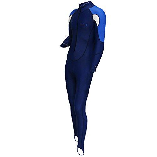 MagiDeal Tauchanzug lang Vollkörper Wetsuit - Super Stretch Damen Herren Bademode Tauchen Schnorcheln Surfen Schwimmen Anzug, Cool Blau! - Weiß für Männer, XL
