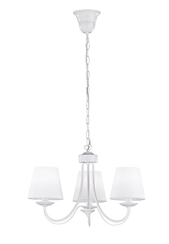 Trio Lighting Cortez Lámpara Colgante E14, 28 W, Blanco, 47 x 47 x 150 cm