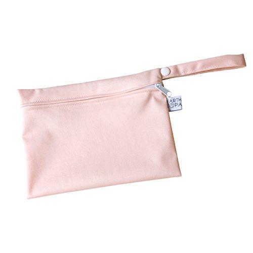 Wasserdichte Nasstasche von Earthtopia - Wetbag für Damenbinden, Slipeinlagen, Stilleinlagen, Badekleidung - Bindentasche, Kulturbeutel, Binden Tasche (15x20cm, Peachy Pink)