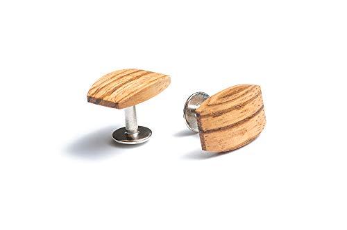 BeWooden Manschettenknöpfe Herren Hochzeit, Geschenke für Männer, Cufflinks Holz, Edelholz Manschettenknopf, Einzigartiges Design, Handgefertigt im Herzen Europas, Original Lini