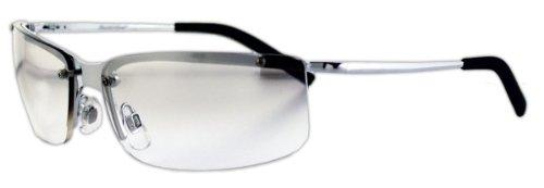 Sportbrille / Metallbrille mit klaren, leicht spiegelnden Gläsern