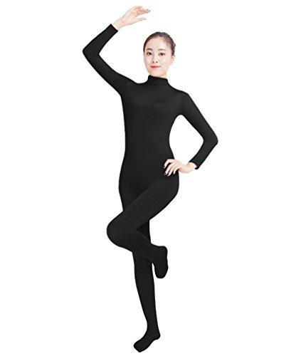 NiSeng Erwachsener und Kind Ganzkörperanzug Anzug Kostüm Ganzkörperanzug Halloween Kostüme Schwarz S (Schwarz Unitard Kostüm)