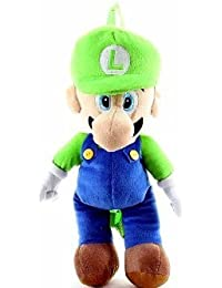 Nintendo Mario Bros. Luigi Large Plush Backpack 18 inches - Plush Doll with double straps on the back by Nintendo