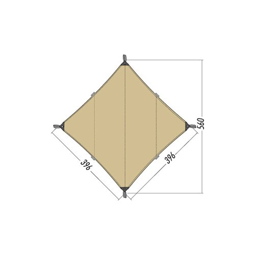 Tatonka Sonnensegel Tarp 3 TC 400 x 400 cm, Cocoon, 2462