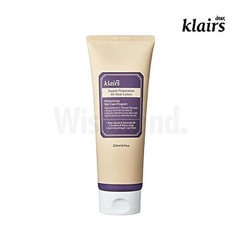 [KLAIRS] Supple Preparation All-over lotion, 250ml, 5 free, vegan friendly, body, face moisturizer