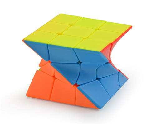 Best Ning Speed Cube Twisted Third-Order Cubes Third-Order Shaped Color-Colored Fluorescent Color Free Stiers Children es Educational Toys