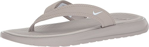 NIKE Women's Celso Ultra Thong Flip Flops (7, Grey/White) Celso Thong