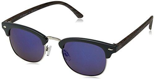 A.J. Morgan Kent Square Sunglasses, Matte Grey/Mirror, 50 mm