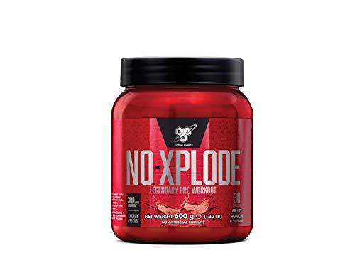 BSN N.O.-Xplode Pre Workout Pulver (Energy Booster mit Kreatin, Arginin, Beta Alanin, Koffein, Vitamin D und Vitamin B Komplex von BSN) fruit punch, 30 Portionen, 600g