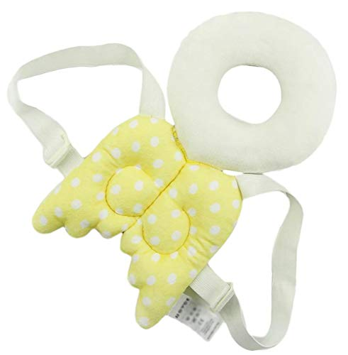 Bobopai Cute Angel Wings Adjustable Protective Cushion for Baby\'\'s Head, for Children and Babies to Prevent Head Injuries, Jaune L, L