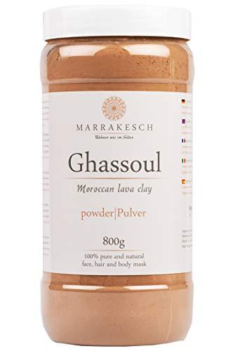 MARRAKESCH Ghassoul Lavaerde Pulver 800g | Original Marokkanische Tonerde als Gesichtsmaske für...