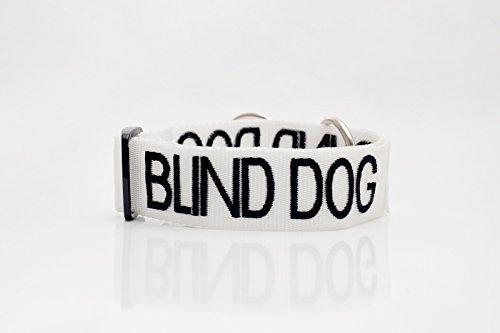 blinder Hund weiß farbcodiert S M L XL Hundehalsbänder verhindert Unfälle durch andere im Voraus...