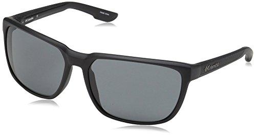 Columbia Men's Trail Warrior Rectangular Sunglasses, Matte Black, 60 mm