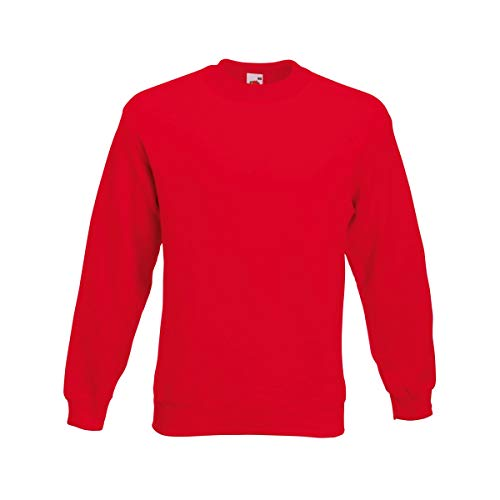 Fruit of the Loom Herren 62-202-0 Sweatshirt, rot, S