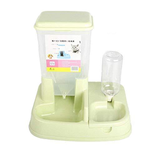 fish Dual-Port-Dog Futterautomat Automatische Wasser-Zufuhr Katze Trinkbrunnen Futternapf Bowl Pet Supplies
