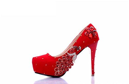 Miyoopark , Semelle compensée femme Red-14cm Heel