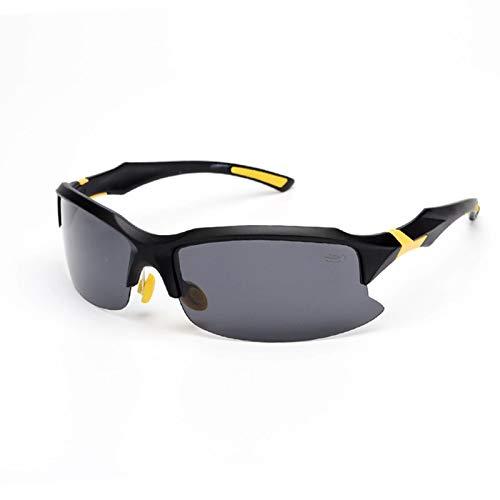 MaxAst Sonnenbrille Motorradbrille Vintage Arbeitsbrille fAnti Glanz Schwarz Gelb