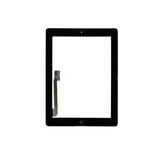 Vetro + Touch Screen Tasto Home Nero Per Apple iPad usato  Spedito ovunque in Italia