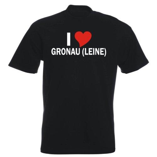 T-Shirt mit Städtenamen - i Love Gronau (Leine) - Herren - unisex Schwarz