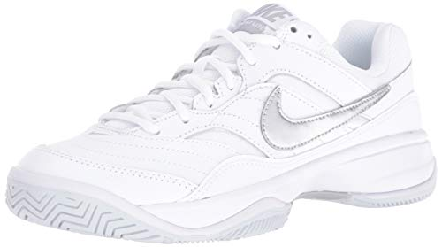 Nike Wmns Court Lite, Scarpe da Tennis Donna, Bianco (White/Matte Silver/Medium Grey 100), 41 EU