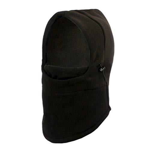 Oyamihin Mode Outdoor Gesichtsmaske Fahrrad Radfahren Maske Winddicht Warme Winter Nackenschutz Schal Schutzmaske für Männer Frauen - Schwarz