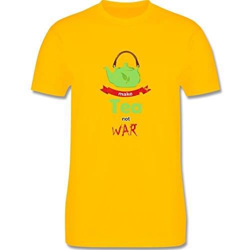 Statement Shirts - Make tea - not war - Herren Premium T-Shirt Gelb
