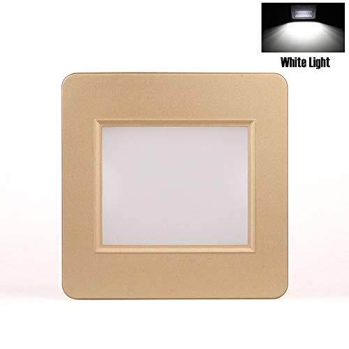 Luz LED para escalera, luz empotrable de pared, sensor de movimiento para...