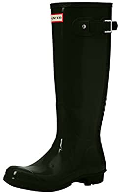 Hunter Women High Wellington Boots, Green (Dark Green/Dov), 36 EU (3 UK)