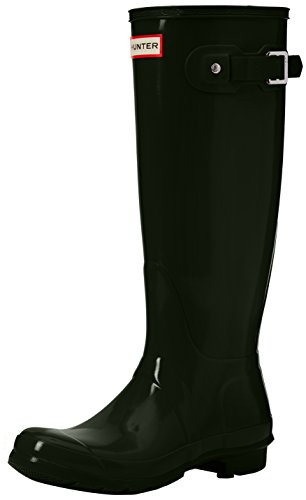 Hunter High Wellington Boots, Botas de Agua Para Mujer, Verde (Dark Green/Dov), 36 EU