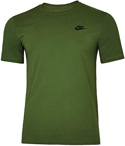 Nike Herren M NSW Tee Club Embrd Ftra-827021 T-Shirt, Olive Canvas/Black, M -