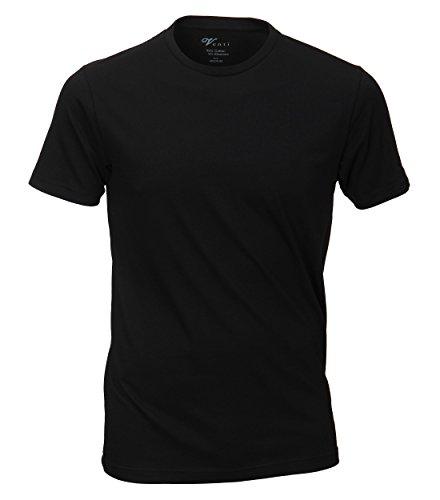 Venti - Slim Fit - Herren T-Shirt mit Rundhals im 2er Pack, schwarz oder weiß (001650) Schwarz (800)