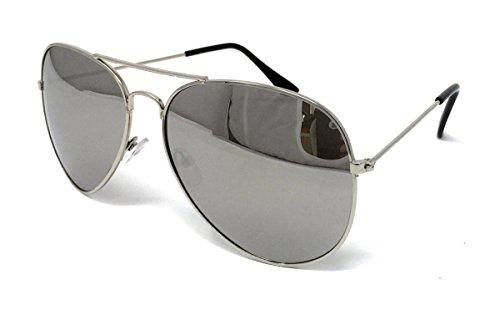 Aviator Style Mirror Lens Unisex UV400 Sunglasses