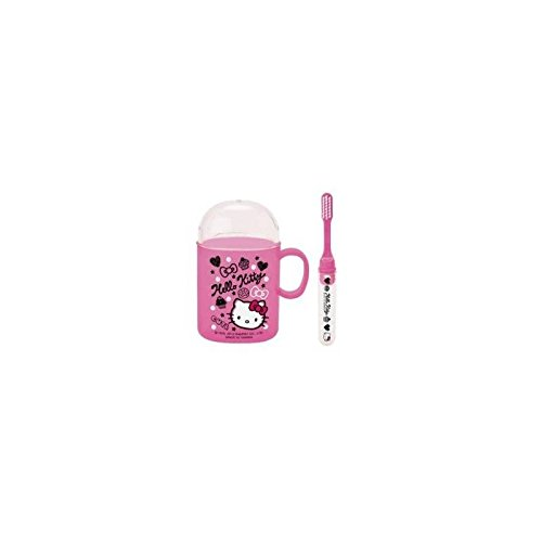 Travel Kit Hello Kitty Bürste hat Zähne und Becher (Hello Kitty Travel Kit)