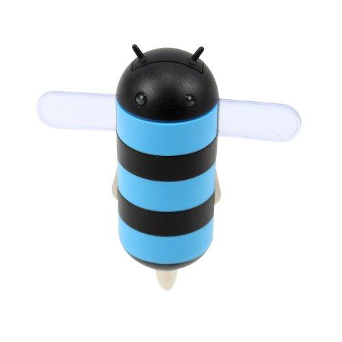 Gen honeydru Android Mottoparty 2A USB Auto Ladegerät mit Micro USB Spiralkabel-Frustfreie Verpackung-Blau/Schwarz Vpa Micro-usb