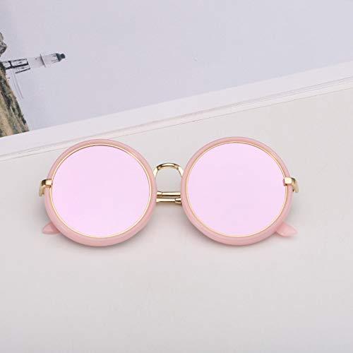 WZYMNTYJ Metall Marine Objektiv Runde Sonnenbrille Kinder Süß Candy Farbe für Mädchen Jungen Spiegel Brille UV400 Mode