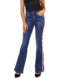 Newplay Vaqueros Bootcut Azul para Mujer Pantalones Acampanados Stretch  Talla de 34 a 42 a036798addf1