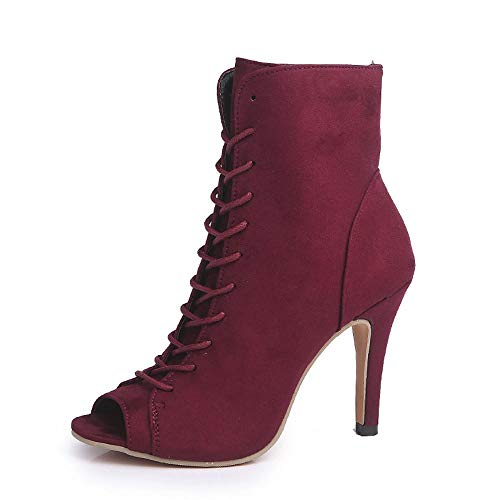 7a447d61c6242c Yesmile Zapatos de mujer❤️Zapatos Señoras de la Manera Señoras Tobillo  Tacones Altos Peep Toe