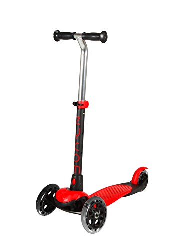 Zycom Kinderscooter Zing Kinderroller Scooter Roller Tretroller Cityroller Kickboard Kickscooter (rot/schwarz mit LED Rollen)